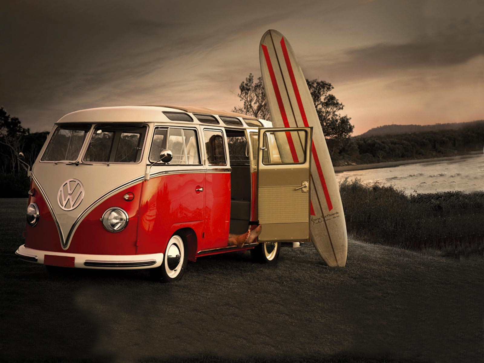 Surf And Old Vw Wallpaper Iphone Vivance